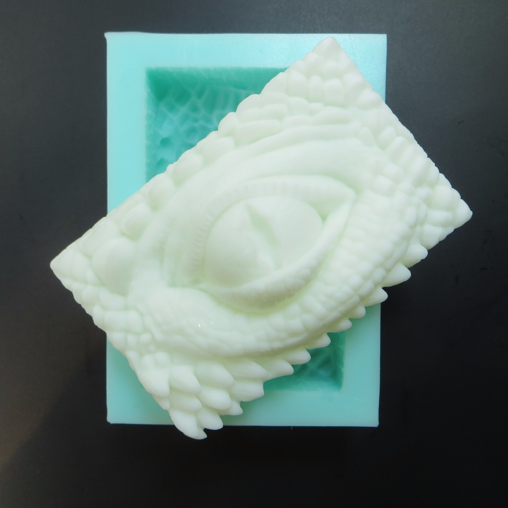 QT0100 Dragon Soap Eye molds DRAGONS EYE Silicone Mould Bars Gypsum Clay Wax Resin mold Monster Dinosaurs mould