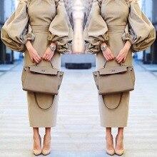 Lange Abendkleid 2016 Gerade Puffy Langarm Frauen Formale Kleider Stretch Satin Arabeske Abendkleider