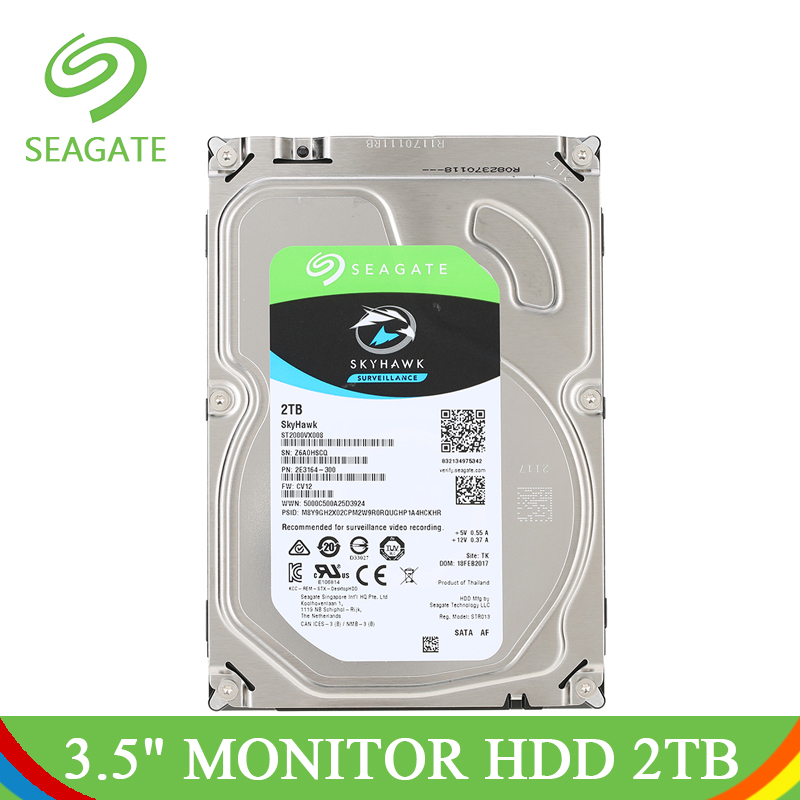 Seagate HDD 3 5 2TB Internal Hard Drive Disk For Computer Monitor 5900RPM SATA 6Gb s
