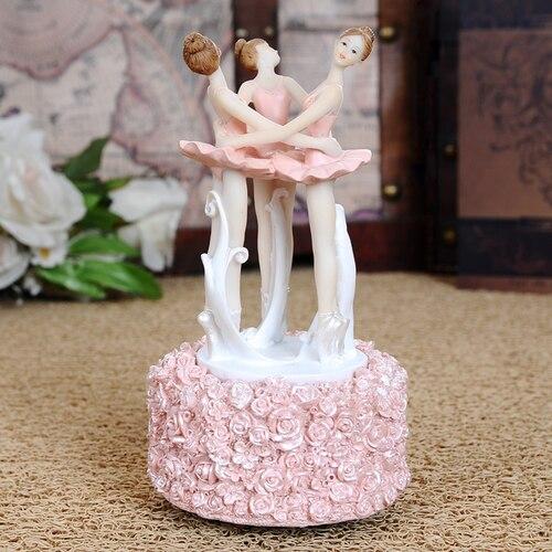 Boîte à musique fée ange chanter boîte décor à la maison danse fille cadeau pour anniversaire résine artisanat Ballet cadeaux enfants cadeau cadeaux de mariage
