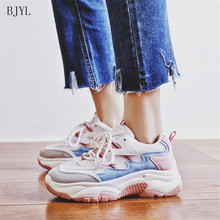 BJYL 2019 Spring Autumn Fashion Ladies Casual Shoes For Woman Vulcanized Breathable Wild Platform Women Sneakers B40