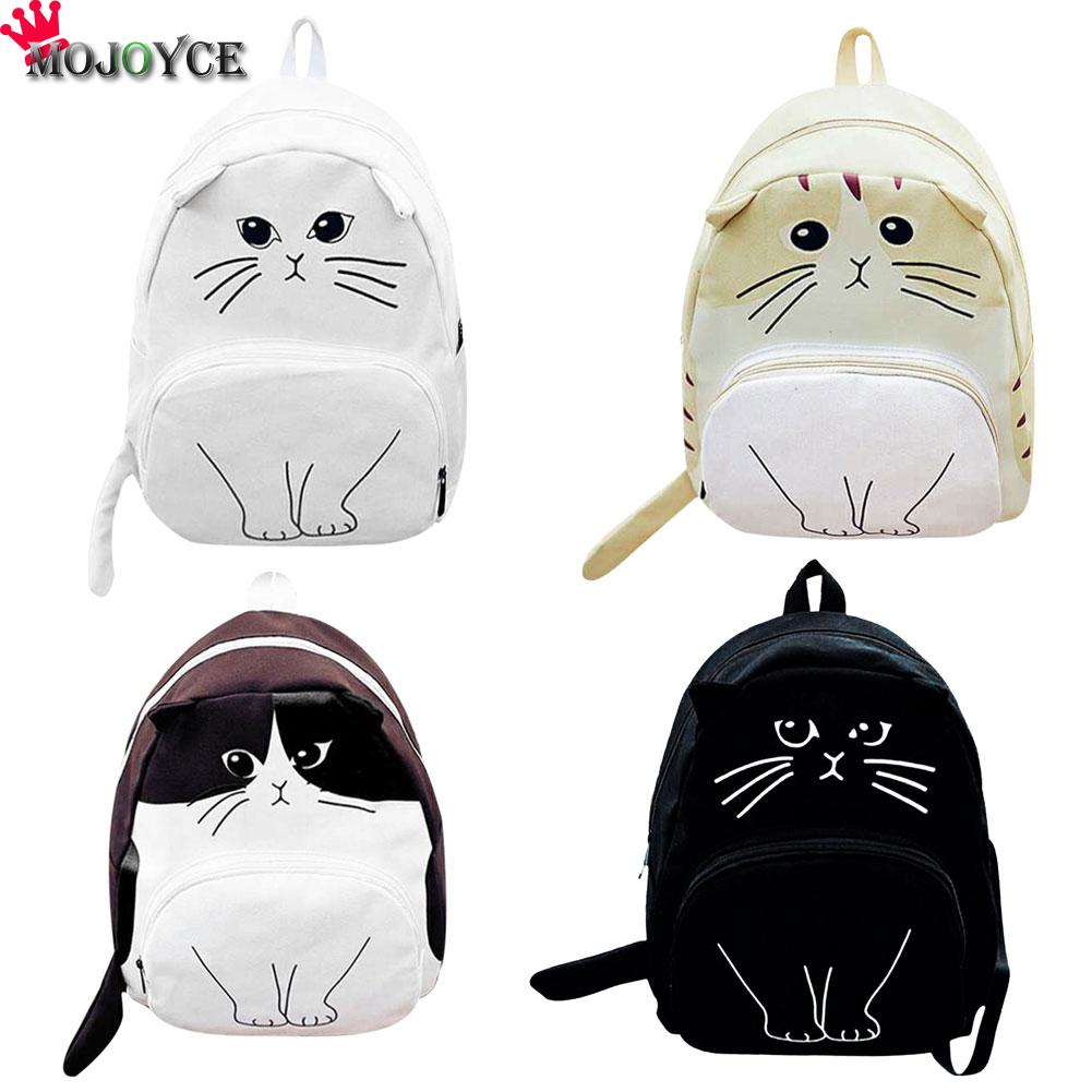 MOJOYCE gato encantador impresión Mochila mujeres bolsas de escuela de lona para adolescentes señoras Casual lindo Mochila Feminina