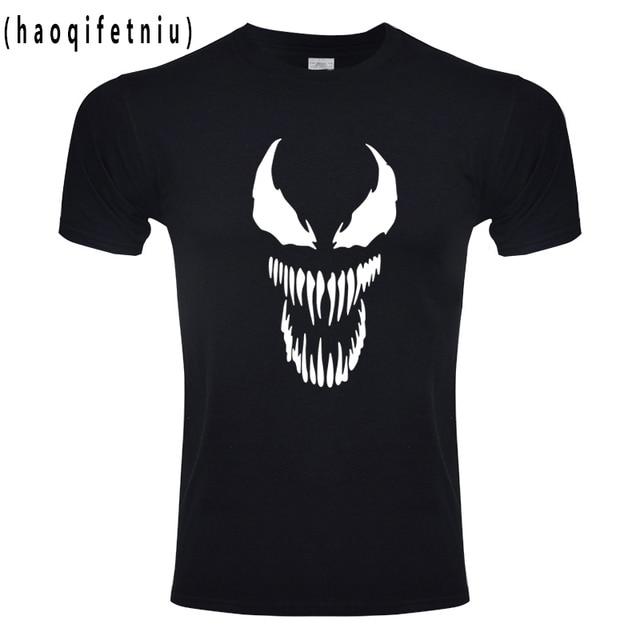 Spiderman veneno camiseta Harajuku Tshirt Dos Homens Da Forma Originalidade Algodão T-shirt da Aptidão Tamanho DA UE Anime Maravilha