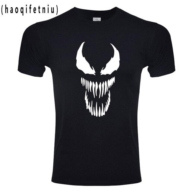 毒 tシャツ原宿ファッション Tシャツオリジナリティスパイダーマン綿フィットネス Tシャツ Eu サイズアニメ驚異