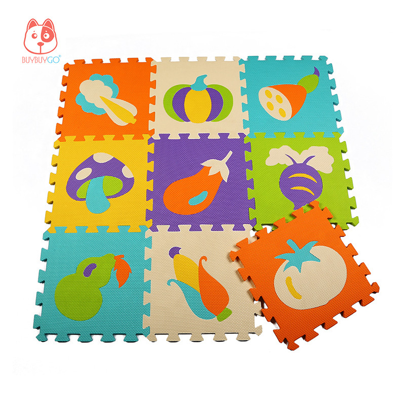 Gym Mats Non Toxic: Vegetable & Fruit Series Baby Play Mat Puzzle Mat 30cm