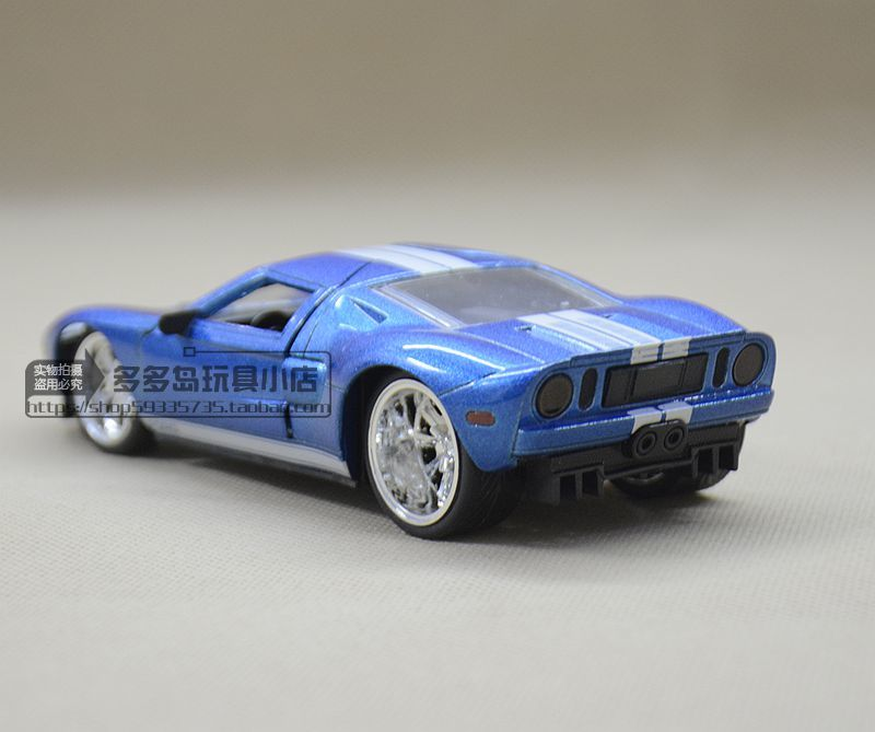 Jada  Scale High Simulation Alloy Model Car Blue Ford Gt  Open Door Quality Toy Models Free Shipping Incasts Toy Vehicles From Toys Hobbies On