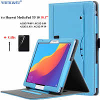 PU Funda de cuero para Huawei MediaPad T5 10 AGS2-L09/L03/W09/W19 10,1