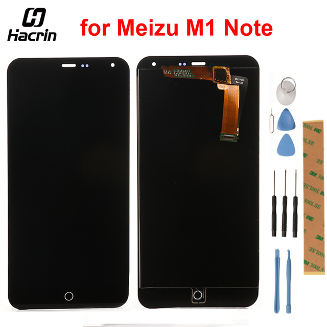 hacrin For Meizu M1 NOTE LCD Screen High Quality LCD Display+Touch Screen MTK6752 Replacement for Meizu M1 NOTE Smart Phone
