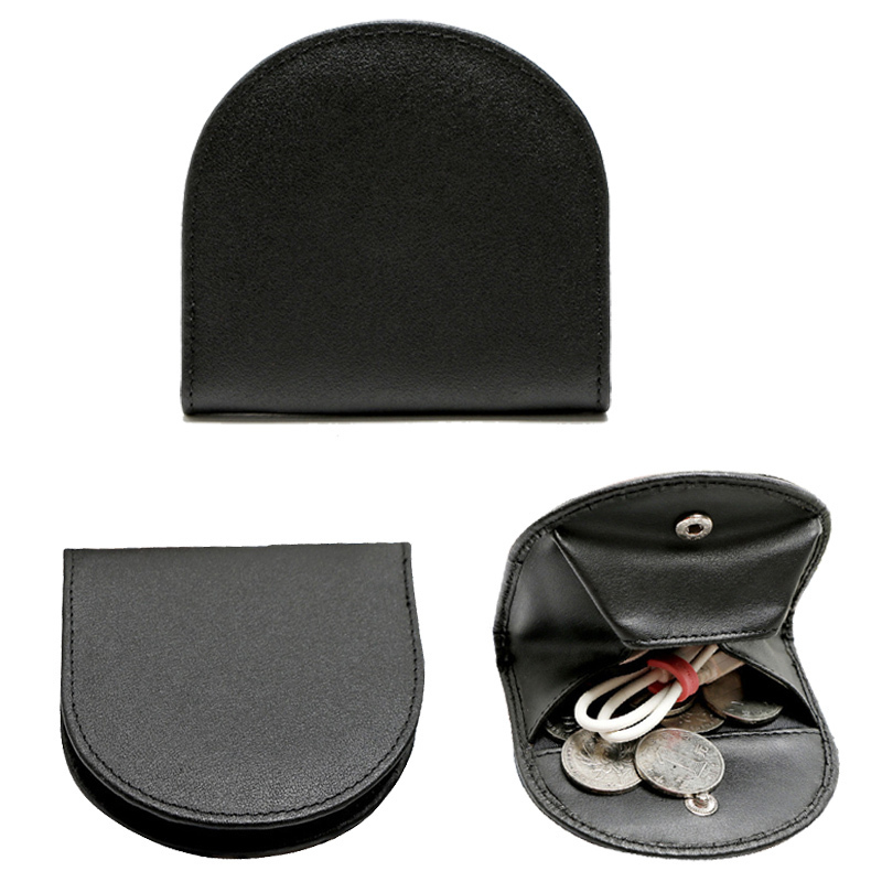 Genuine Cowhide Coin Purse Men Business Slim Leather Mini Coin Purse Small Key Wallet Zero wallet Snap headset bags