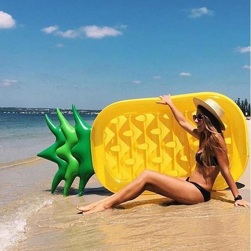 Brillant 180 Cm Aufblasbare Ananas Riesigen Pool Schwimmen Spielzeug Schwimmen Kreis Strand Aufblasbare Matratze Meer Party Boia Piscina QualitäTswaren Sport & Unterhaltung