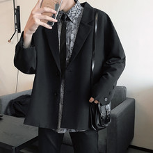 Mens Suit 19 Spring New Solid Color Simple Casual Korean Style Chic Small Jacket Retro Loose Single West Boys Wild