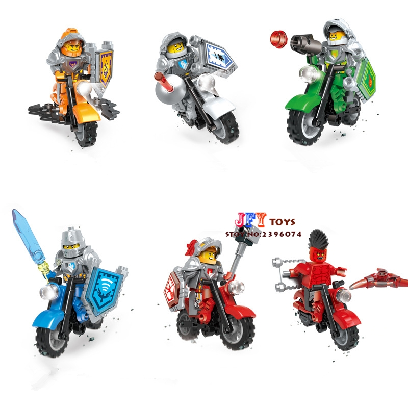 6pcs star wars super heroes marvel avengers KNIGHTS Motorcycle building block model bricks toy for children juguetes