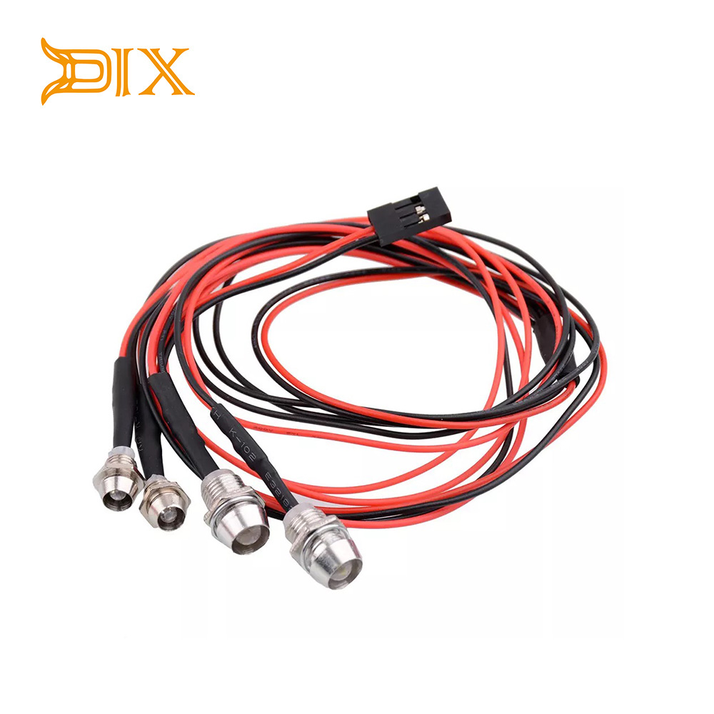 DJX 4 Lights 70cm Lenght RC LED Night Headlamps Headlights 3/5mm LED Light For Model Drift Crawler Car For RC Car NSV775