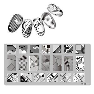 Image 4 - 2018 aço inoxidável placa de carimbo modelo geometria estilo francês mar marinho ramadã israel floral olhos prego ferramenta JR91 100