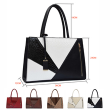 Women Leather Handbag Female Luxury Serpentine PU Bag Over Shoulder Brand Designer Large A4 Briefcase Tote Bag for Office Ladies