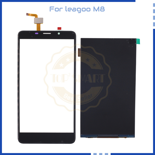 "5.7"" For Leagoo M8 LCD Display Touch Panel Digitizer Assembly Phone Parts balck and gold color for leagoo M8 Cellphone screen"
