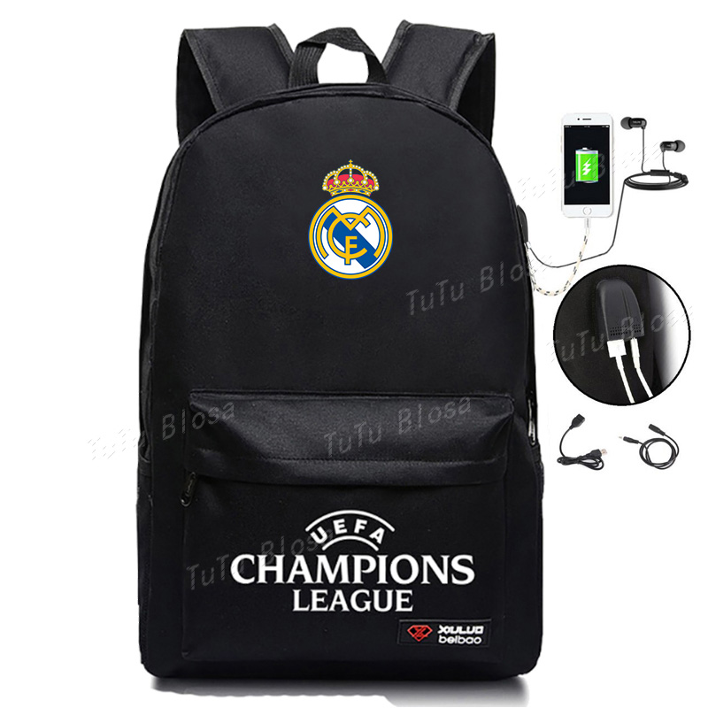 New Arrival For Real Madrid Student Backpack Christmas Gift For The Football Kids For Football Teenager Back To School Bags H254