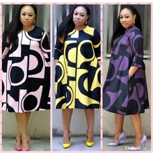 H&D 2019 african clothes dashiki suits print women clothing robe africain lady outfit womens dress pink dresss