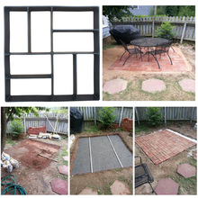 Path DIY Paving Mould Garden Concrete Molds Form For Stone Plastic Road