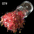 10g/botella Nail Art Acrílico Mezcla de Hielo Mylar Glitter Shinny Vino rojo Shell Papel Glitter poder SG-07