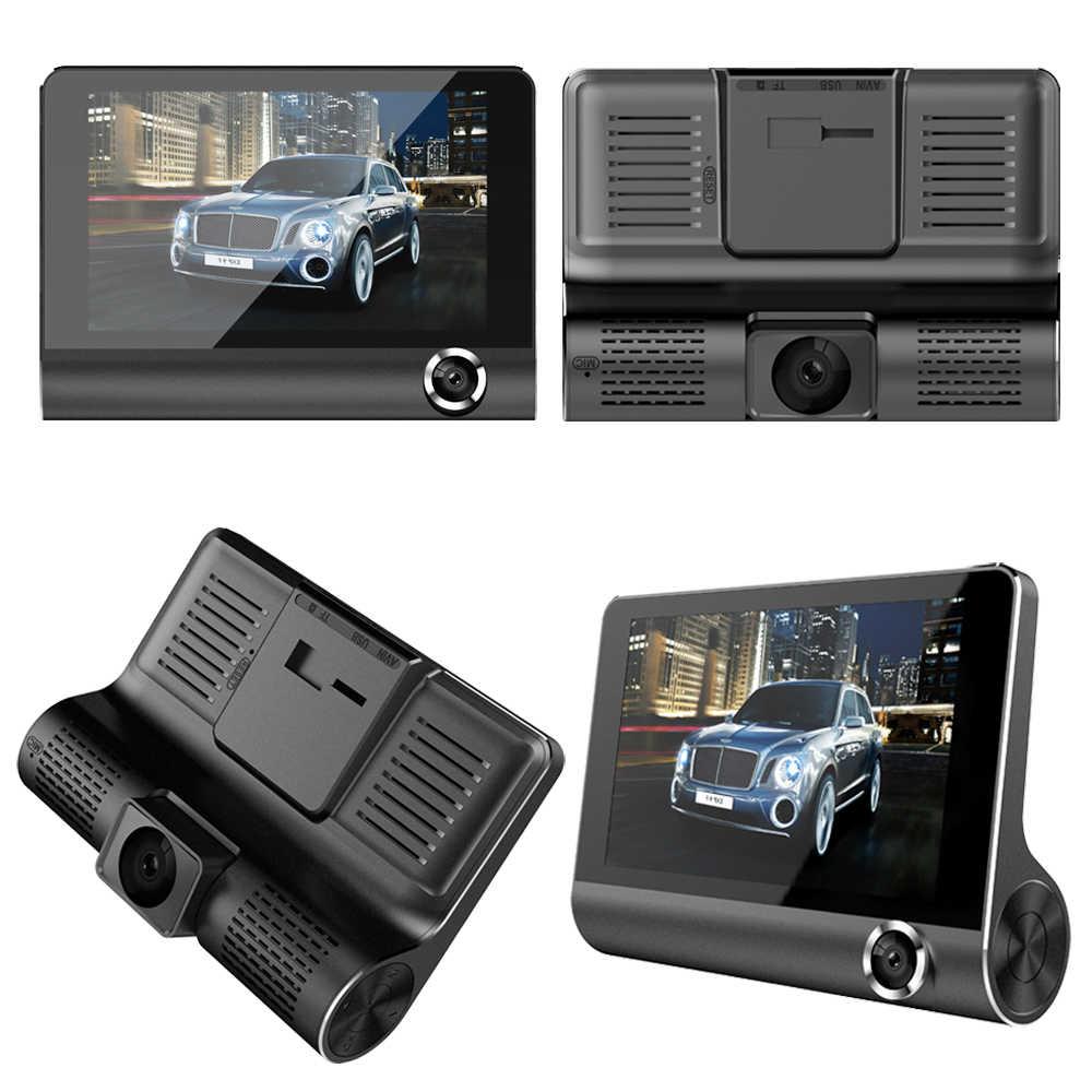 Addkey DVR Xe Ô Tô 3 Máy Ảnh Ống Kính 4.0 Inch Dash Camera Ống Kính Kép Với Camera Chiếu Hậu Đầu Ghi Hình Tự Động Registrator Dvrs dash Cam