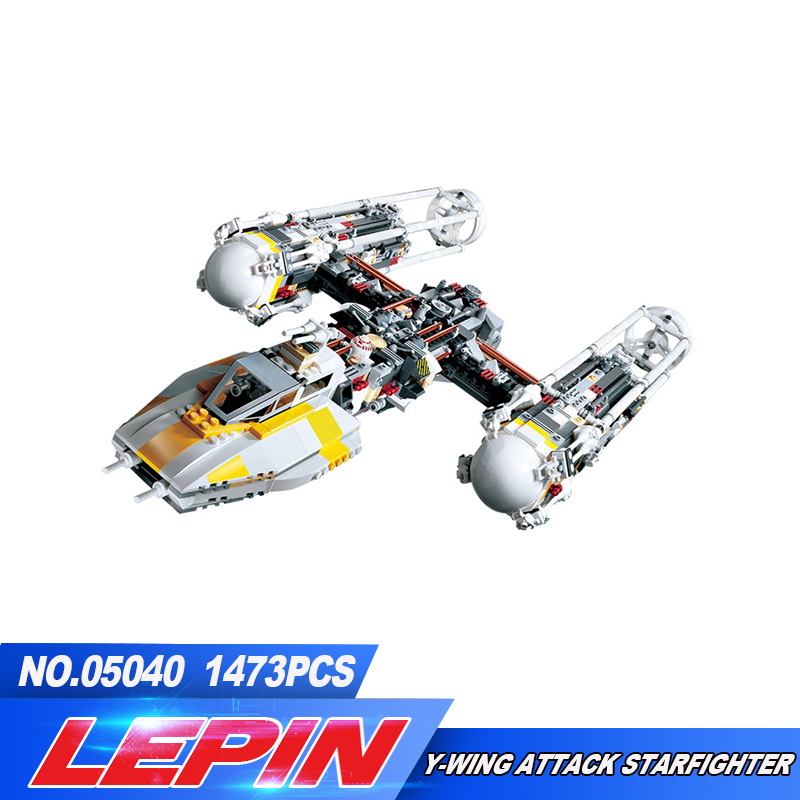 New Lepin 05040 Y-wing Attack Starfighter Building Block Assembled brick  Series Toys Compatible legoed with 1013 lepin 22001 pirate ship imperial warships model building block briks toys gift 1717pcs compatible legoed 10210