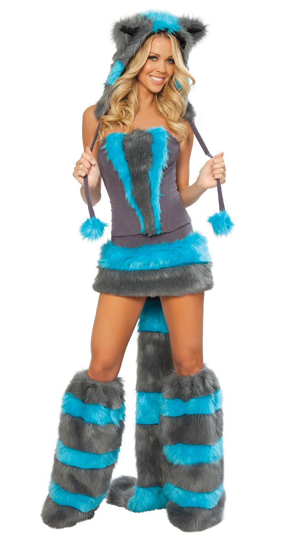 ᗚAdult Sexy Wolf Animal Fancy Dress Costume for Women Halloween ...