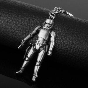Крутой металлический брелок, Звездные войны, ювелирных изделий, Storm Trooper, Дарт Вейдер, 3D кулон «робот», брелок, Автомобильный мужской держатель для ключей, chaviro