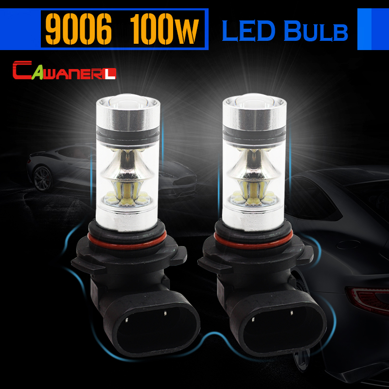 Cawanerl 9006 HB4 100W Car LED Lamp Bulb 2200LM 6000K White Auto Light Fog Daytime Running Light Headlight Low Beam DRL cawanerl 1 pair 100w h3 car led bulb 20 smd 2200lm white 6000k automotive fog light daytime running lamp headlight low beam drl