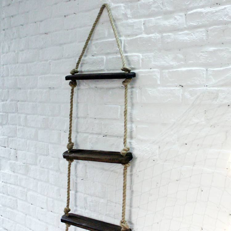 Mediterranean Decor Ladder Rope Ladder Bars Ornaments