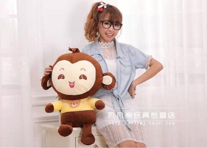 ФОТО Stuffed animal 65 cm lovely monkey plush toy throw pillow sweet monkey doll gift w3644