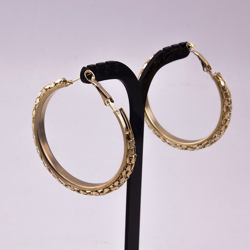 HTB1pJUhOFXXXXaeXFXXq6xXFXXX9 - Simple Fashion Style 5CM Big Hoop Earrings Jewellery for Women Metal Alloy Vintage Round Earring