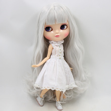 ICY Neo Blythe Doll Light Grey Hair Azone Jointed Body 30cm