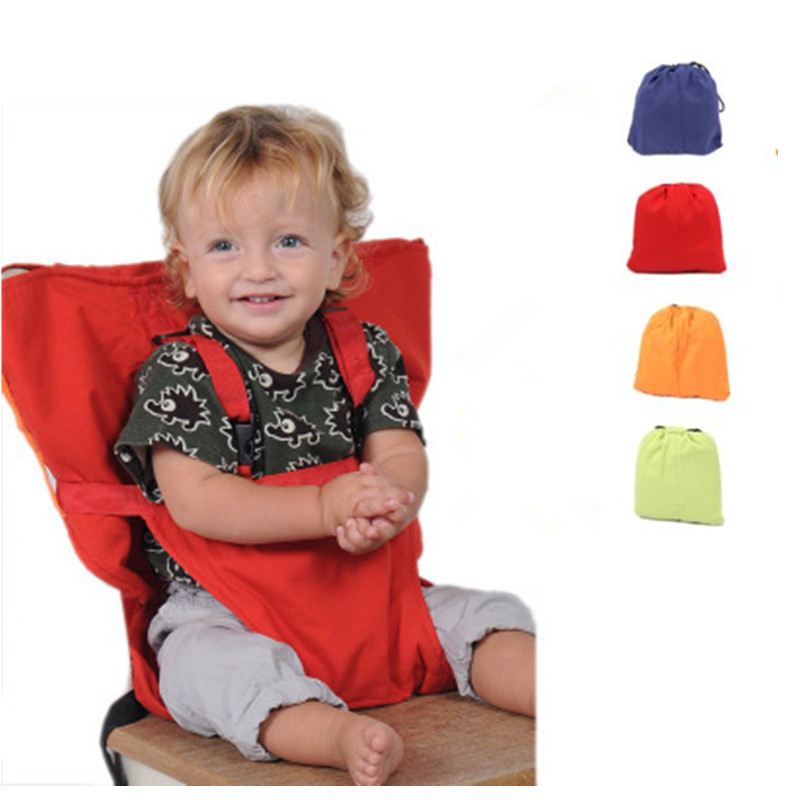 Baby Portable Seat Travel Foldable Baby Dining Lunch Chair Infant Feeding Seat Safety Belt Washable High Chair Harness Baby Care