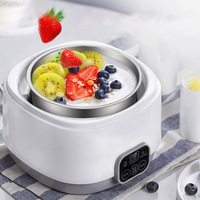 Electric Yogurt Maker Mini Auto 3 in 1 Natto Rice Wine Multi function Yoghurt Maker Machine Yoghurt DIY Tool Kitchen Appliances
