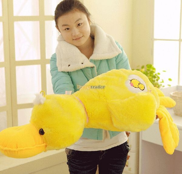 Fancytrader 39\'\' 100cm Lovely Stuffed Giant Plush Yellow Rubber Duck, Free Shipping FT50268 (5)