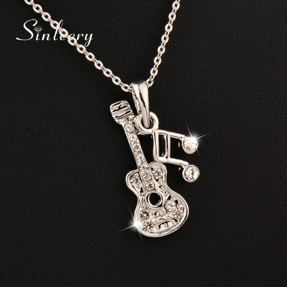 SINLEERY Μουσική Σημείωση Κολιέ Κολιέ με - Κοσμήματα μόδας - Φωτογραφία 3