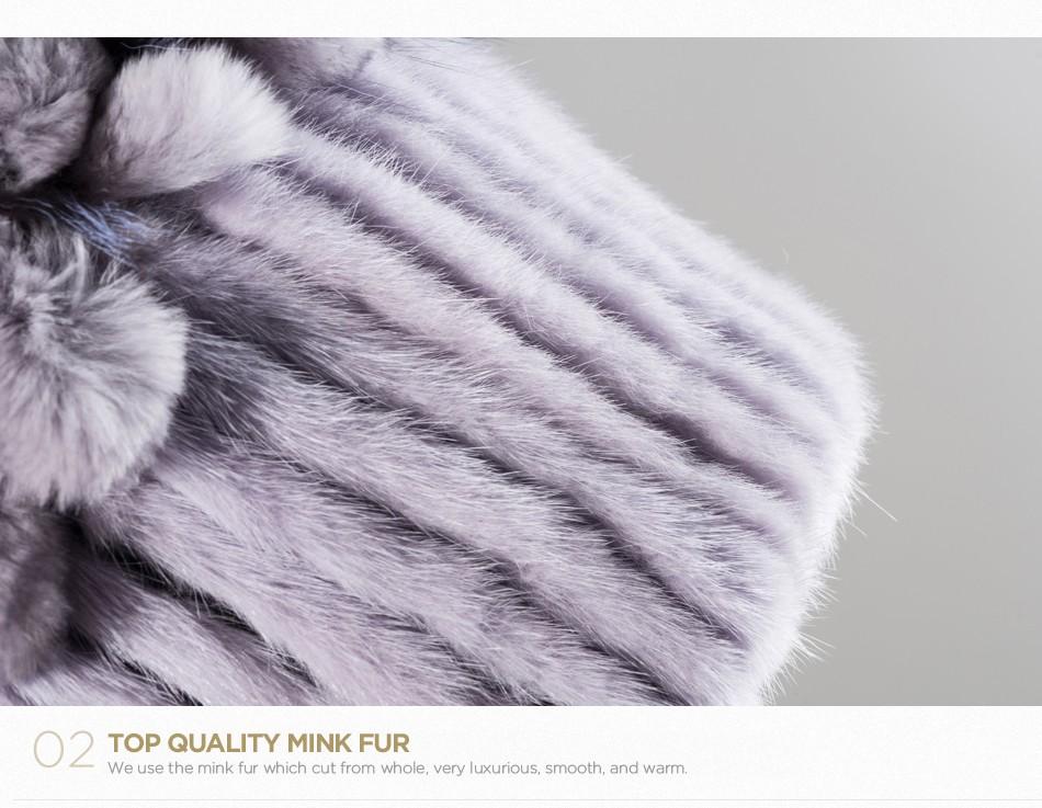 mink fur hats female winter PCM016 (6)