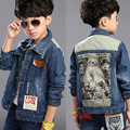 2016 autumn winter fashion children's denim jackets boys Kids Clothing boys' coats outerwear 6, 8 ,10, 12, 14 years old