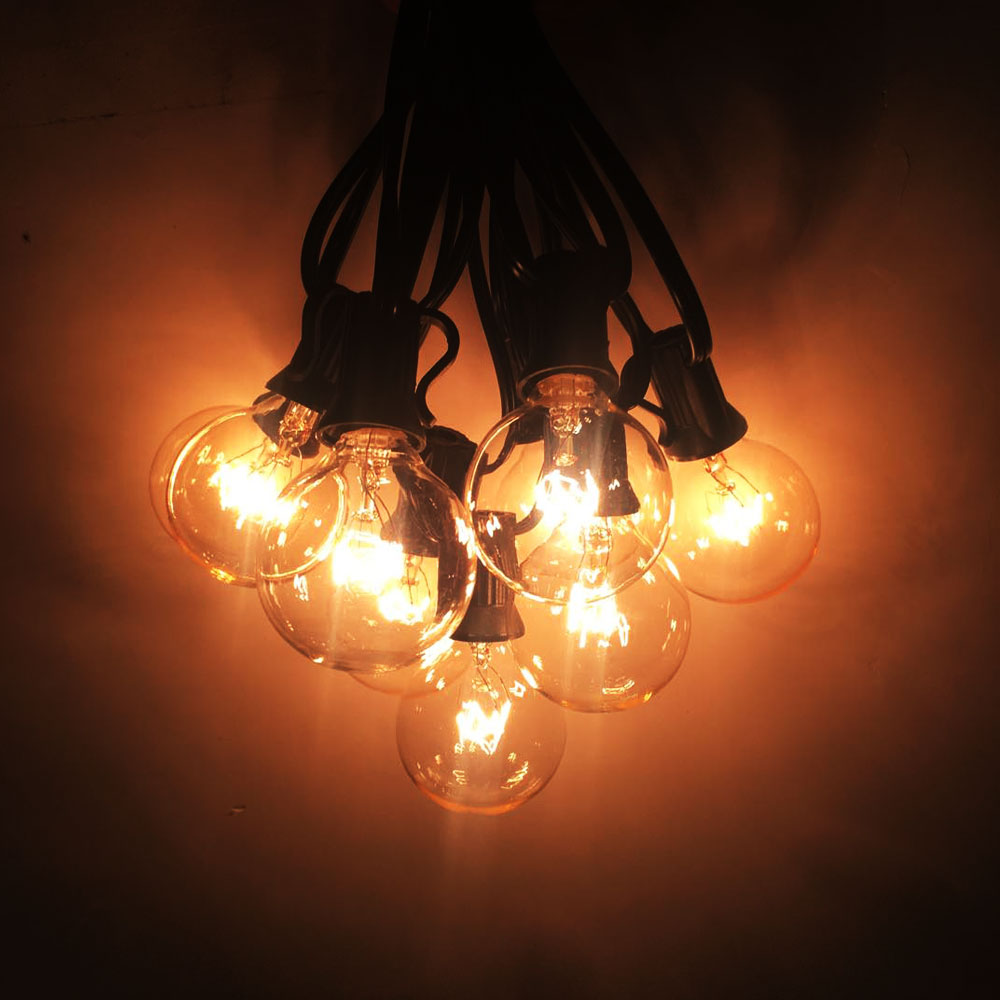Luces de cadena de VNL G40 con 25 bulbos claros del globo de G40 - Iluminación de vacaciones - foto 3