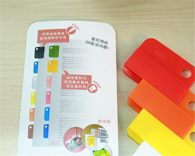 400 sets notebook Memo Clip Creative Stationery Easy Clips colored
