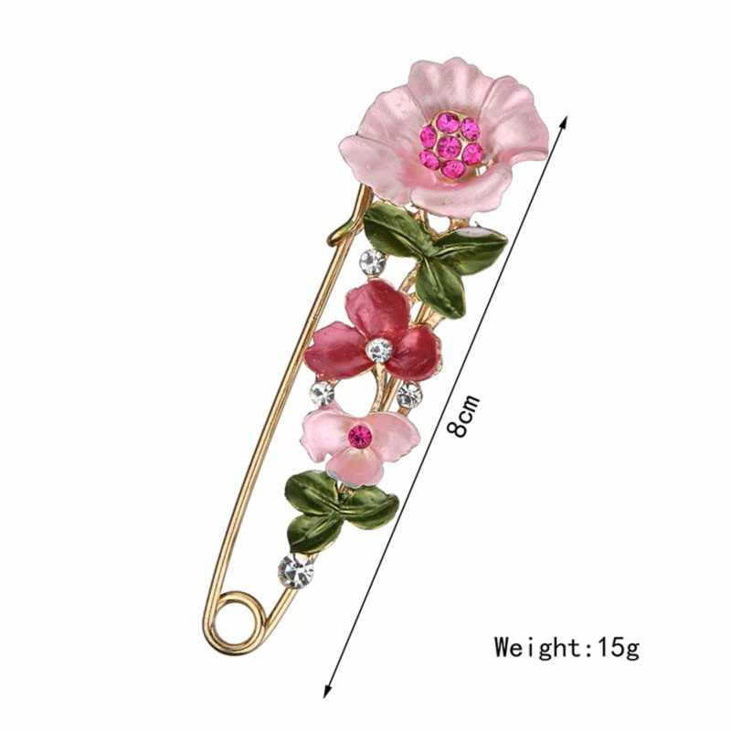 Elegant Tulip Flower Brooch Pin Crystal Costume Jewelry Clothes Cosy Accessories Jewelry Brooches For Wedding riverdale Pins
