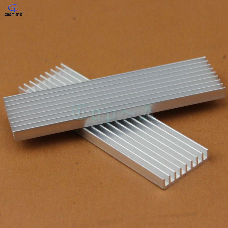 Gdstime 10pcs Good Quality DIY Heatsink 100x28x6mm Cooling Cooler Radiator 100mm x 28mm x 6mm Aluminum Heat sink for LED 200pcs lot 0 36kg heatsink 14 14 6 mm fin silver quality radiator