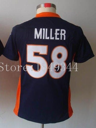 #58 Von Miller Jersey,Women Football Jersey,Best quality,Authentic Jersey,Size S--XXL,Accept Mix Order