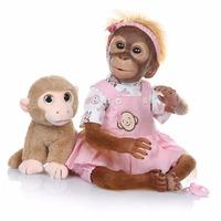 Macaco Doll reborn baby toys 21inch 52cm cotton body silicone monkey doll realistic Cosplay Apes doll for girls birthday gift