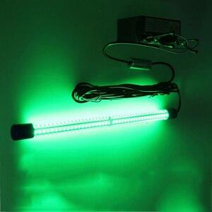 Image 2 - 30 W דגי קלמארי אור עמוק ים LED מתחת למים אור לילה דיג פיתוי מנורת עבור 12 V 24 V הימי סירת ספינה