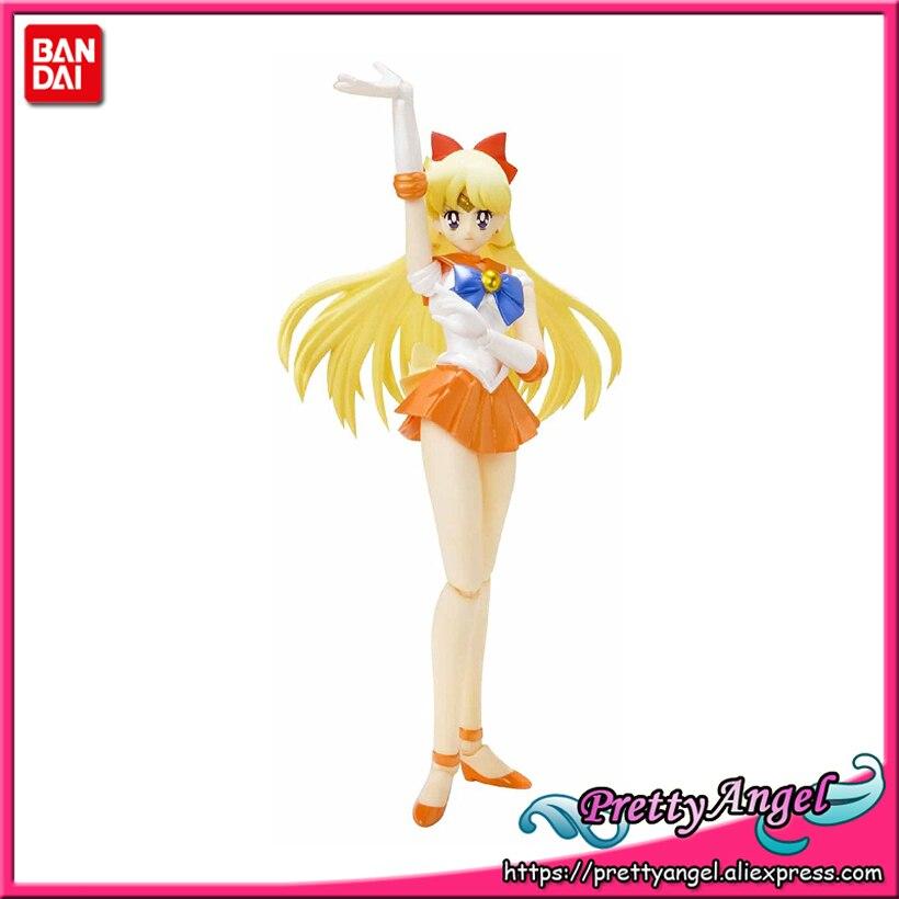 PrettyAngel - Genuine Bandai S.H.Figuarts Pretty Guardian Sailor Moon 20 th Action PVC Sailor Venus Action Figure prettyangel genuine original banpresto girls memories pretty guardian sailor moon sailor pluto action figure