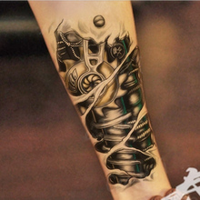 Fashion Large Temporary Tattoo Man 3D Tattoo Robot Arm Body Art Removable Waterproof Tattoo Sticker D0517