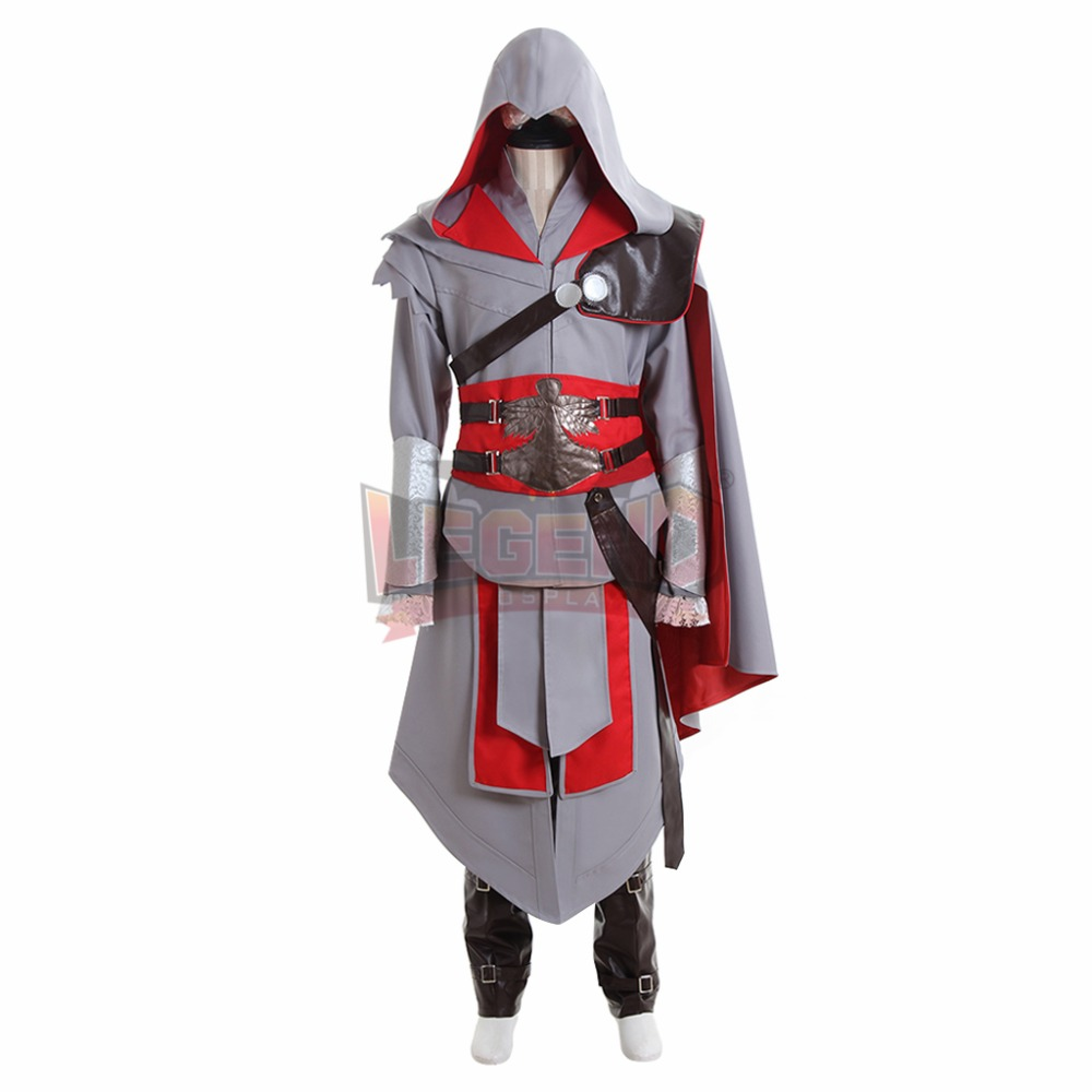 Us 99 99 Cosplay Legend Ac Custom Made Ezio Auditore Da Firenze Cosplay Adult Costume Full Set All Size Halloween Men Costume In Game Costumes From