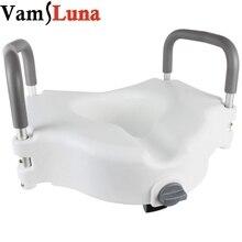 Taşınabilir yükseltilmiş yükseltici kolları ile klozet kaldırıcı banyo güvenliği yardımcı olur engelli, yaşlı veya engelli